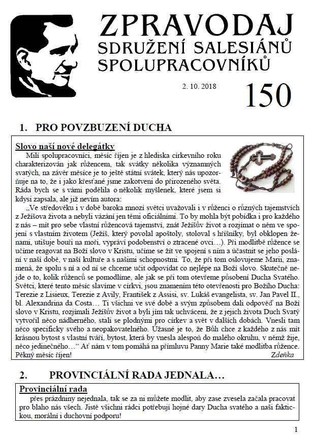 Zpravodaj č. 150